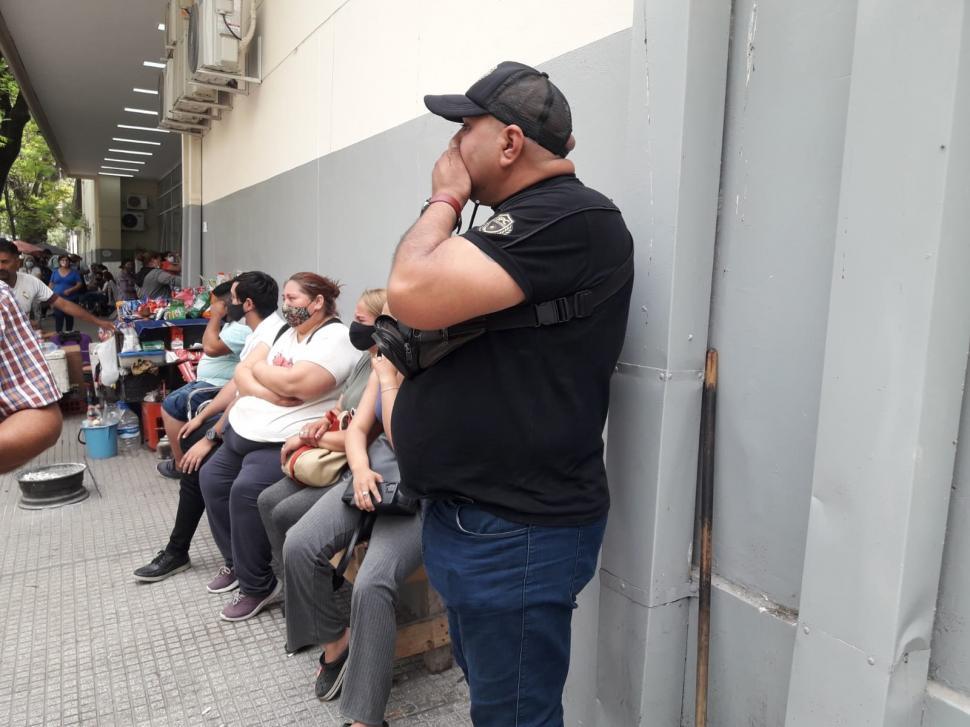 CONMOCIONADOS. Gustavo Campos habló en nombre de su familia.