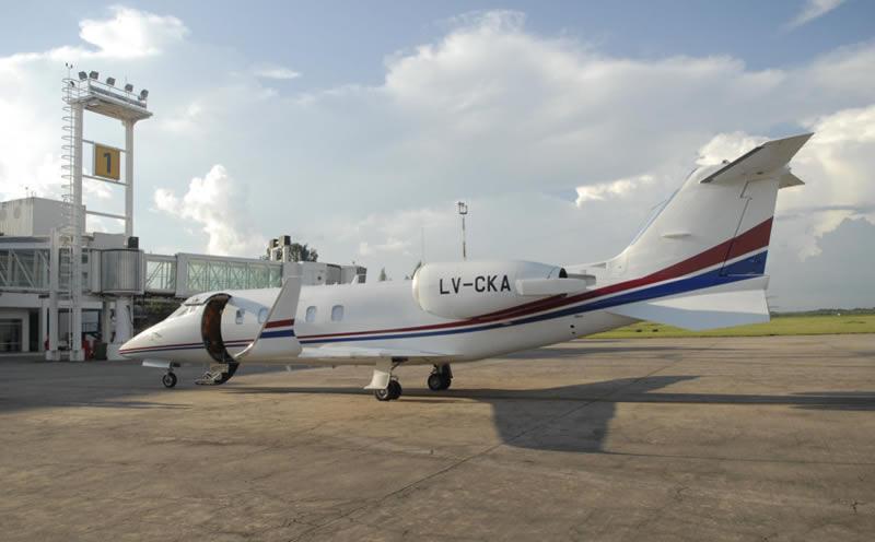 AERONAVE OFICIAL. El LearJet 60, patente LV-CKA. Foto: Comunicación Pública
