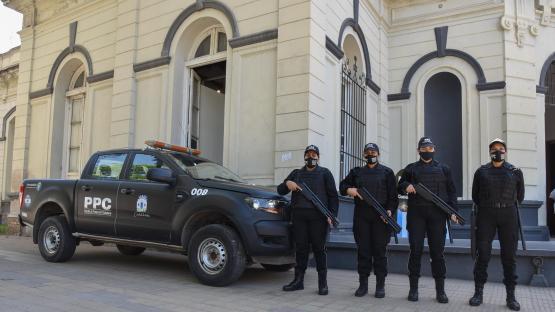 Inauguraron una base de la Patrulla de Protección Ciudadana frente a la plaza Urquiza