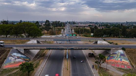Uno de los accesos a la capital provincial cambió su fisonomía